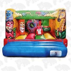 13ft x 17ft Jungle Lo Wall Bouncy Castle