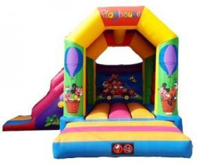 14ft x 17ft Clubhouse Slide Bouncer