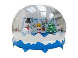 19ft x 16ft Christmas Snow Globe Castle