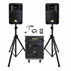 PA System Radio Mic & Speakers